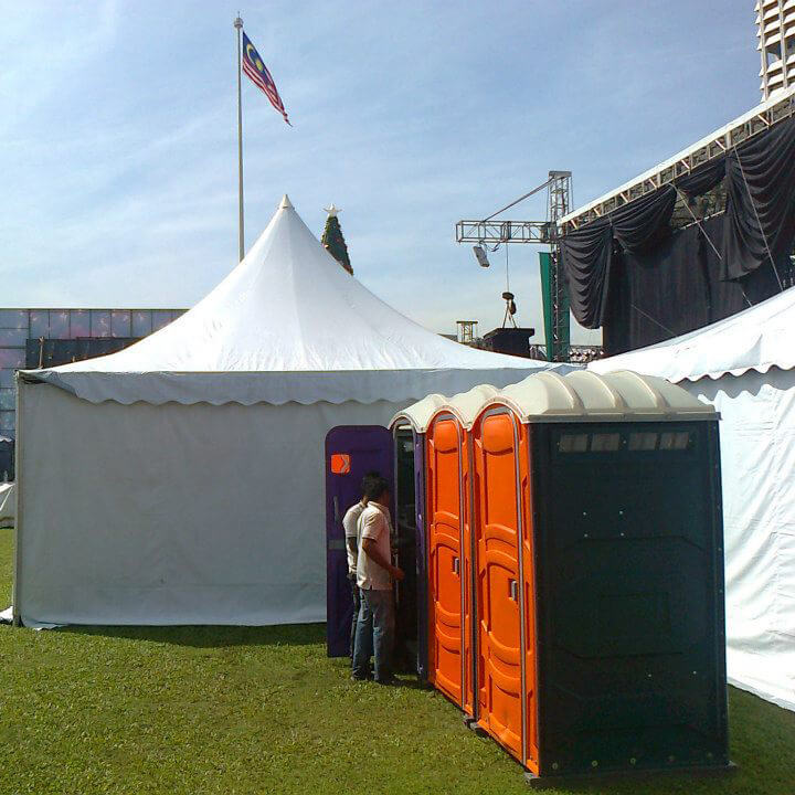 Portable Toilet Rental at Open Air Carnival and Concert
